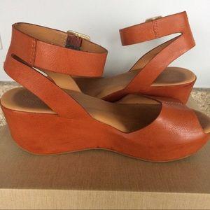 95afff4d83a Kork-Ease Shoes - Kork-Ease Carolyne platform wedge sandals in Rust