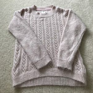 Other - Girls sweater. Light pink with gold thread