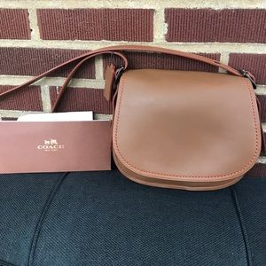 Coach Handbags - Brown Leather Coach Saddle Bag