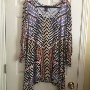 Grace Elements Tops - NWOT gorgeous print top