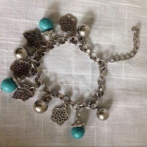 Jewelry - Silver & Turquoise Bracelet or Anklet
