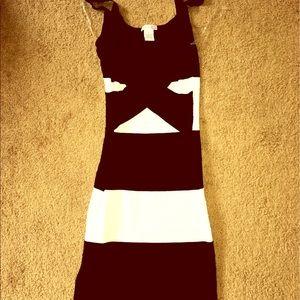 Body central brand. Small. Black & white dress.
