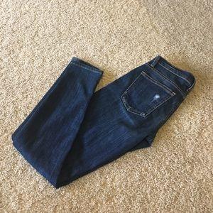 Current/Elliot destroyed skinny jeans