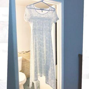 Jessica Simpson White high low maternity dress