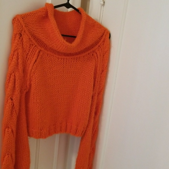 Free Knitting Patterns Alpaca Sweaters : 40% off Free People Sweaters - FP Orange Cropped Alpaca ...