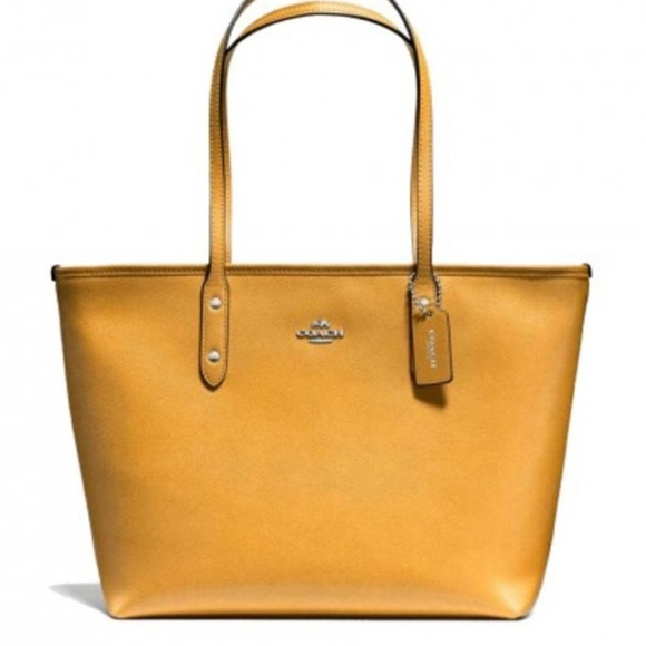 0718a68116d4 NWT Mustard Yellow Coach Purse and Wallet