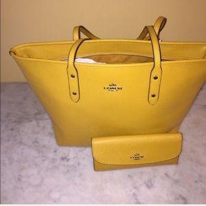 5bc15ddac6c2 Coach Bags - NWT Mustard Yellow Coach Purse and Wallet