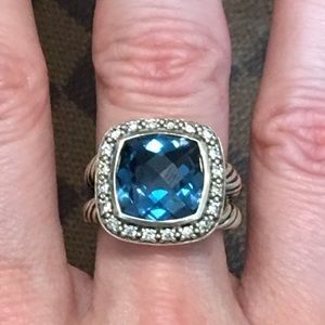 David Yurman Jewelry - David Yurman Hampton Blue Topaz Albion Ring