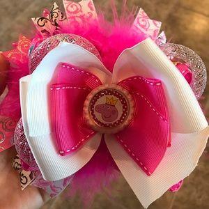 Peppa Pig Accessories - Beautiful handmade hair bow