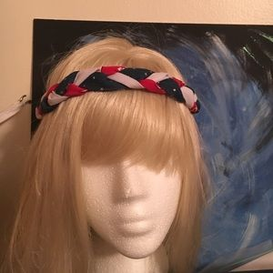 NWOT Red white and blue stretchy headband