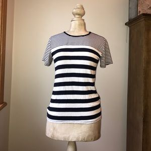 Loveappella Tops - Blue and white striped tshirt