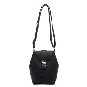 Pink Haley Handbags - NEW!!! Frida Front Lock Patch Black