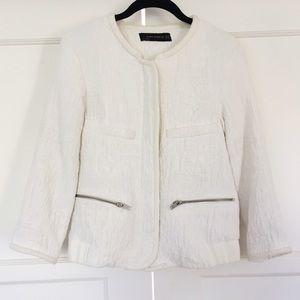 Zara textured bomber jacket