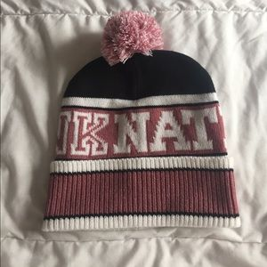 PINK Victoria's Secret Accessories - adorable pink nation beanie