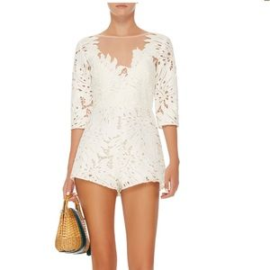 Alice McCall Dresses & Skirts - Alice McCall Rumours Lace Playsuit Romper White