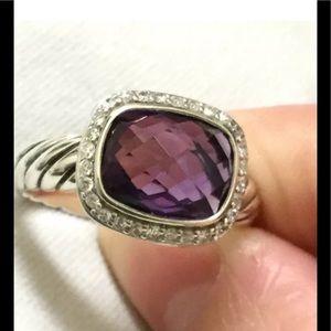 David Yurman Jewelry - David Yurman Amethyst and Diamond Ring