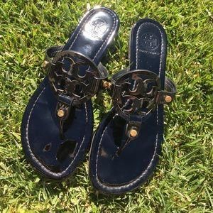 Tory Burch Shoes - Tory Burch Patent Black Miller Sandals