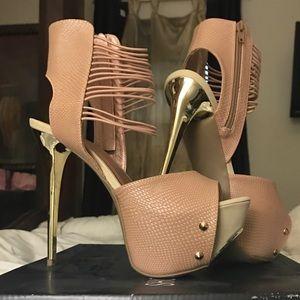 Shoes - Sexy Rose Gold Stilettos