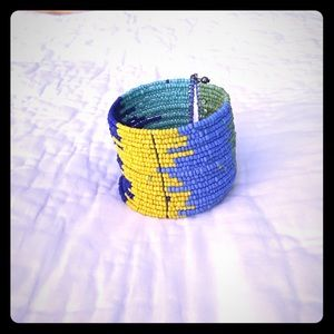 Jewelry - Colorful beaded cuff bracelet - expandable