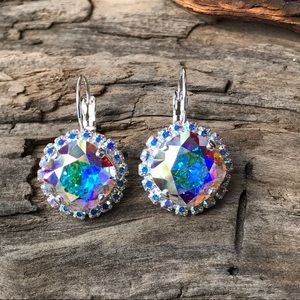 Handcrafted earrings with Swarovski crystal #180