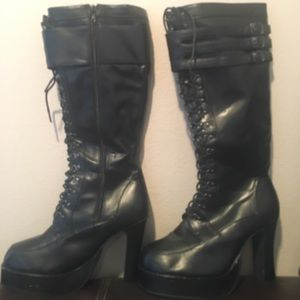t.u.k. Synthetic leather knee high boots