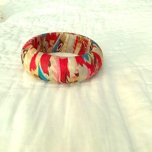 Jewelry - Silk patterned bangle bracelet