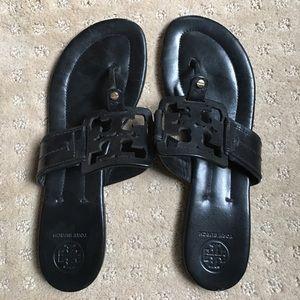 Tory Burch Shoes - Like New Tory Burch Blck Leather Flip Flops