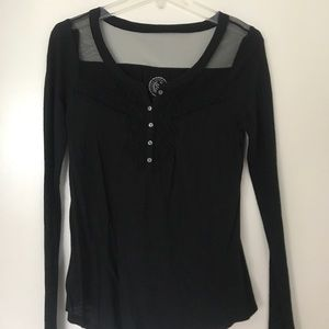 Authentic Original Vintage Style Tops - Black shirt