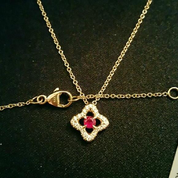 fe160db24d65f4 David Yurman Jewelry | 18k Gold Diamond Ruby Necklace | Poshmark