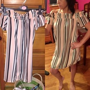 Atmosphere Dresses & Skirts - 🆕Multi Stripe Off the shoulder dress! NWT