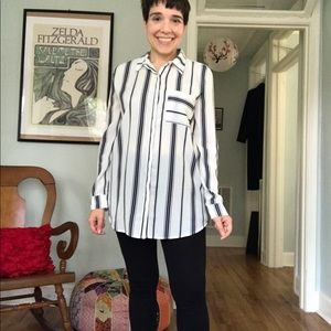 Valette Tops - Striped tunic-style top
