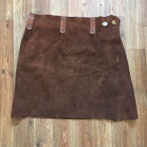 VINTAGE Leather Wrap Viking Skirt