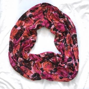 Juicy Couture Rose Floral Infinity Scarf