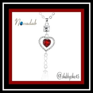 Red Drop Heart Necklace *Coming Soon*