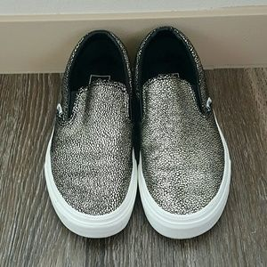7218581915 Vans Shoes - Vans original slip on sneakers black and gold