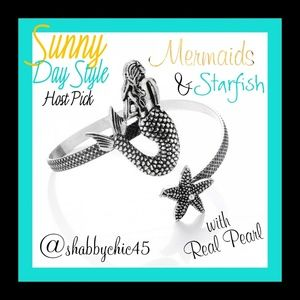 Boutique Jewelry - *HP*  Mermaids & Starfish Bangle Bracelet