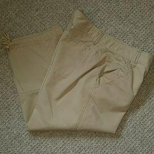 Marmot Pants - Marmot Tan Chino Capris