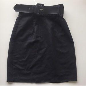 Creme Dresses & Skirts - Black Belted Pencil Skirt