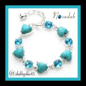 Turquoise Heart Tennis Bracelet *Coming Soon*