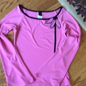 Wrapper Tops - Pink top great for spring! Size L