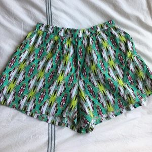 Lily White Pants - Lily White Aztec print summer shorts