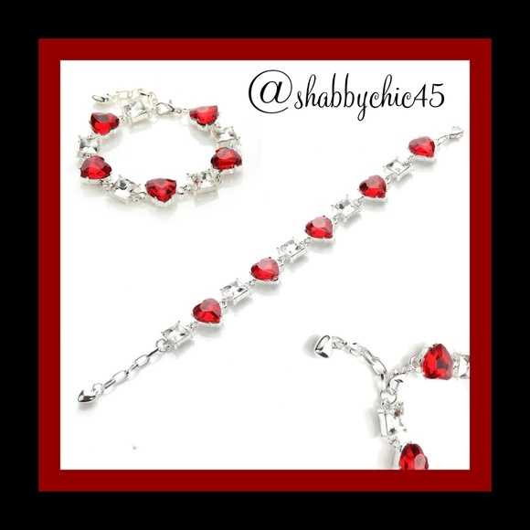 Boutique Jewelry - CLEARANCE!! *HP* Red Crystal Heart Tennis Bracelet