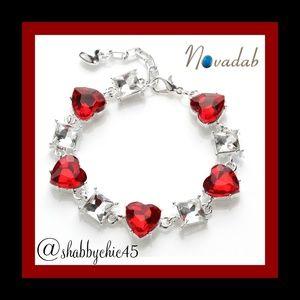Red Crystal Heart Tennis Bracelet *Coming Soon*