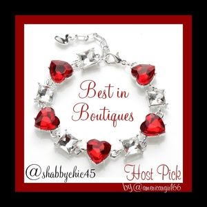SUPER SALE! *HP* Red Crystal Heart Tennis Bracelet