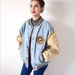 Mickey Mouse Vintage Denim Bomber