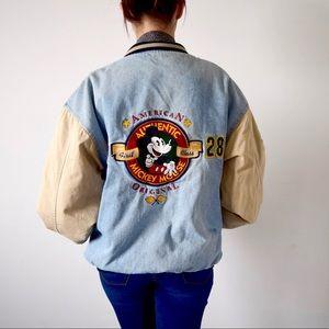 Mickey Mouse Vintage Denim Bomber