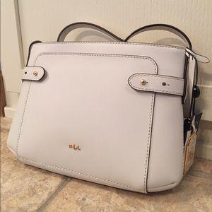 Ralph Lauren Handbags - NWT Vanilla leather Ralph Lauren crossbody handbag