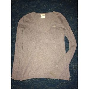 Lacoste Sweaters - Lacoste Sweater 36 4 gray v neck