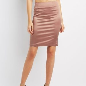 Charlotte Russe silk pencil skirt