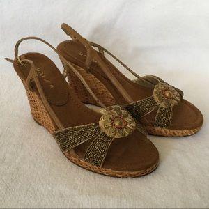 "Unisa Shoes - Unisa Lexi 3-3/4"" Wedge Sandals"
